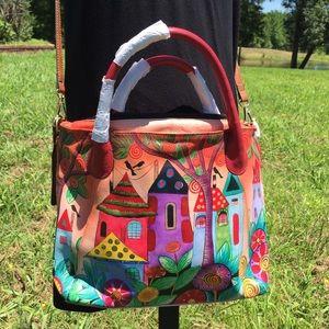 NWOT Anuschka Village of Dreams Purse Bag